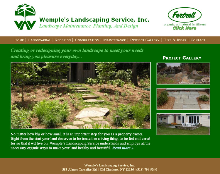 Landscaping website advanced web design for Advanced landscape design